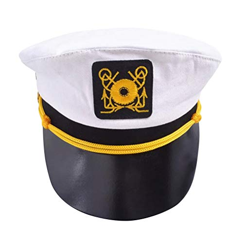 (BESTOYARD Police Woman Hat Flight Attendant Hat Stewardess Cap for Halloween Costume Cosplay Musical)