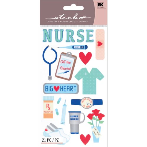 Sticko Scrapbooking Stickers, Registered Nurse]()