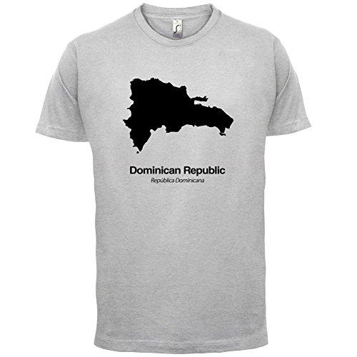 Dominican Republic / Dominikanischen Republik Silhouette - Herren T-Shirt - Hellgrau - XL