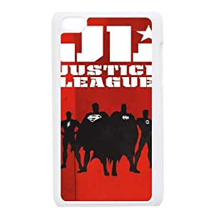 iPod Touch 4 Case White Justice League Team Silhouette LSO7721718