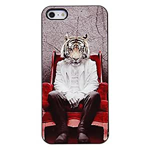JJESitting Man with Tiger Head Pattern Aluminous Hard Case for iPhone 5/5S