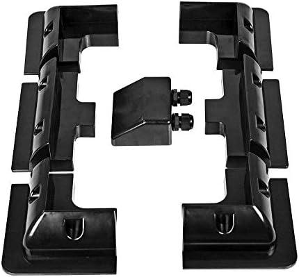 Huante 7 Teile/Satz Rahmen Solar Modul Eck Montage ABS Halterung Kit Wohnmobil Wohnwagen RV Boot Solar Panel St?Nder Schwarz