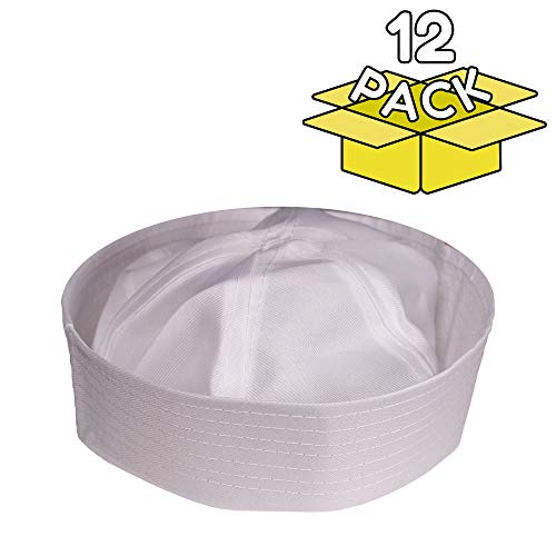 Windy City Novelties 12 Pack Kids Sailor Costume Hat in Bulk for Kids