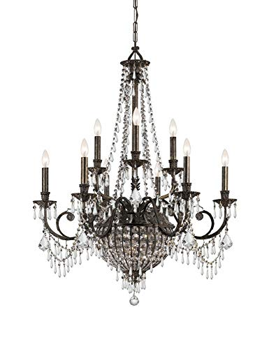 Traditional Classic 12 Light Crystal Candle Chandelier