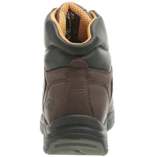 Timberland PRO Mens Titan 6 Waterproof Soft Toe Boot Brown w/ Green