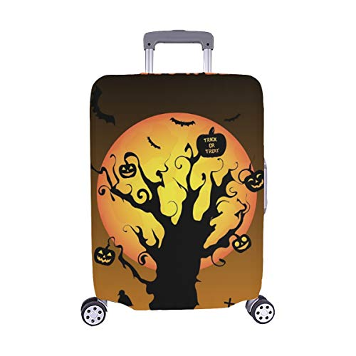 Silhouette Halloween Graveyard Spandex Trolley Case Travel Luggage Protector Suitcase Cover 28.5 X 20.5 Inch