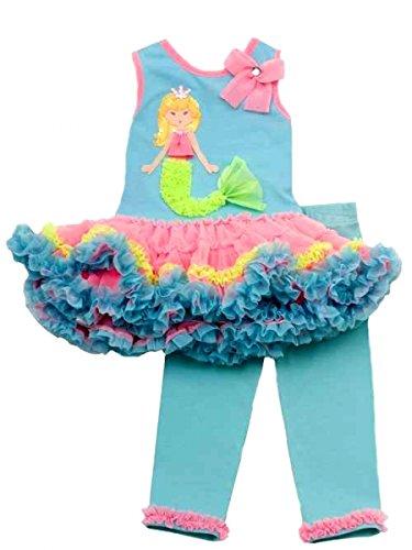 Entzückendes Meerjungfrauen Tutu-Outfit ~ Set ~ Kleid + Legging Gr. 92