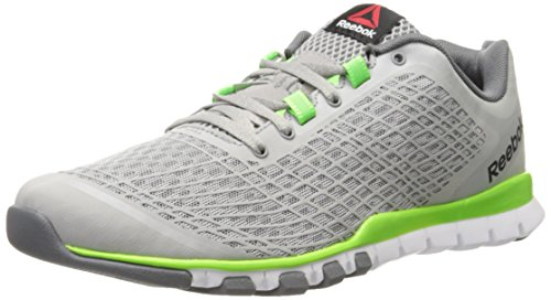 Reebok Men's TBD Train-M, Tin Grey/Solar Green/Alloy, 10 M US