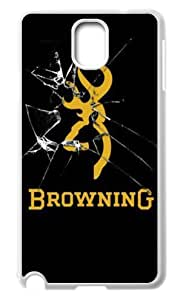 First Design Browning Logo Unique Best Durable Samsung Galaxy Note 3 N9000 Case