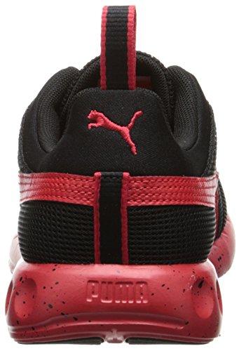 Puma Mens Carson Runner Speckle Lace-up Fashion Sneaker Nero / Rosso Ad Alto Rischio