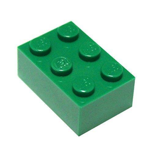 LEGO Parts and Pieces: 2x3 Green (Dark Green) Brick x200