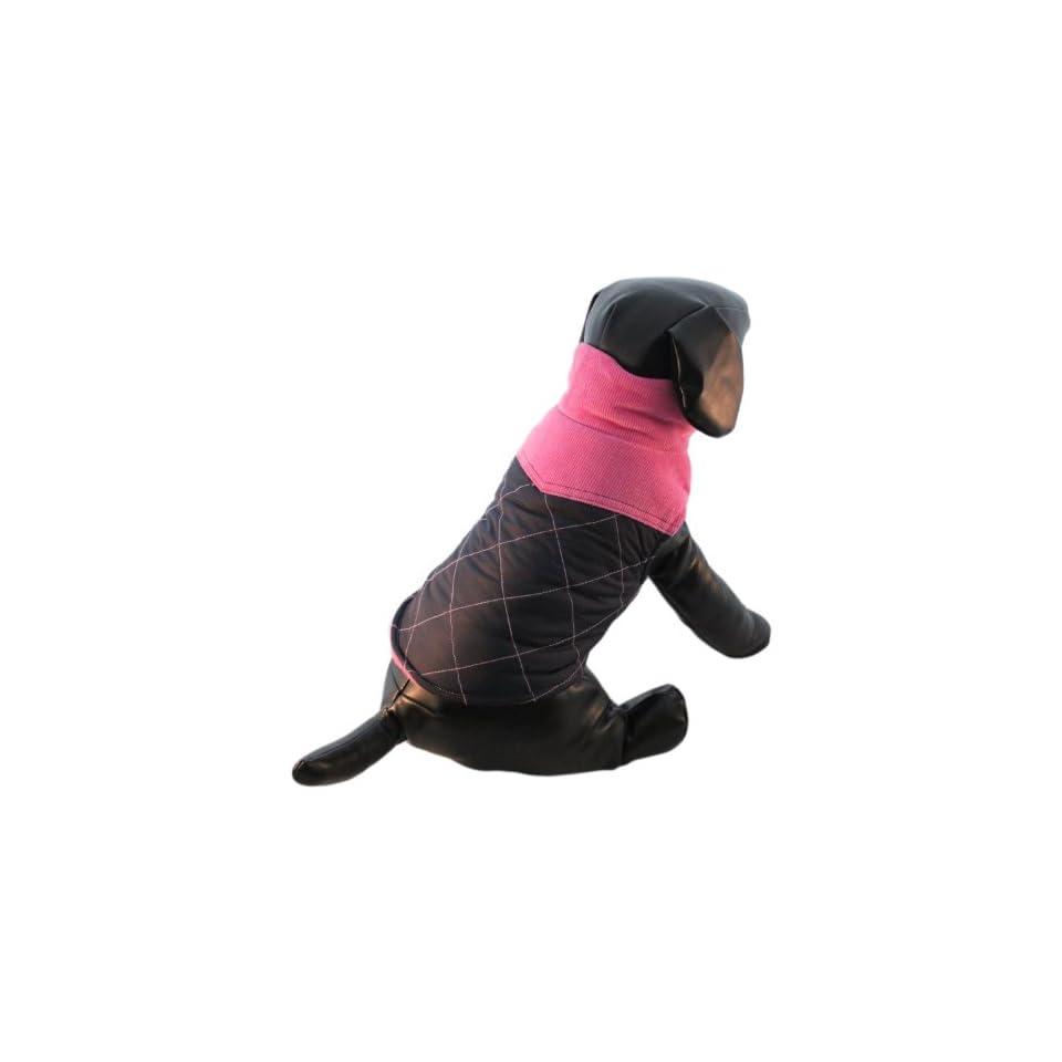 Monkey Daze Designer Dog Apparel   Hot Pink Quilted Vest   Color Navy & Pink, Size S
