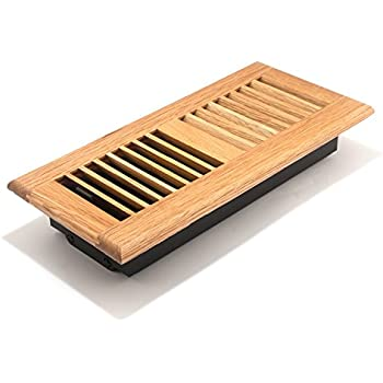 Accord AOFROLL410 Floor Register With Oak Louvered, 4 Inch X 10 Inch(
