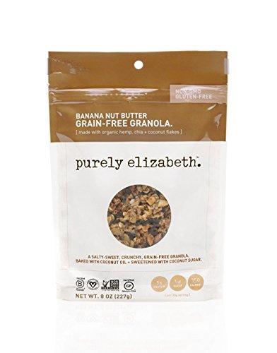 purely elizabeth Grain-Free & Gluten-Free Granola, Banana Nut Butter, 0.5 Pound