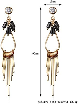 b873b306c Long Drop Sleek Chain Tassel Earrings by Lovey Lovey. Long Drop Sleek Chain  Tassel Earrings by Lovey Lovey