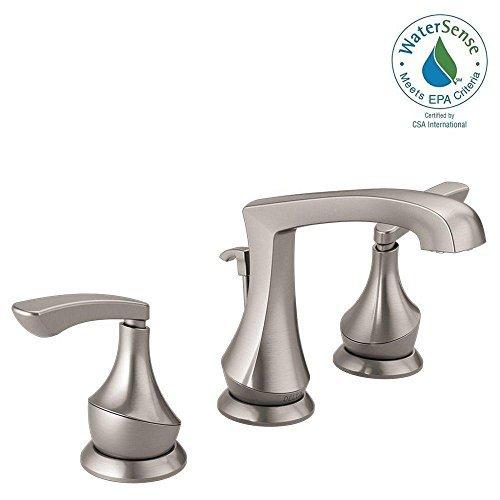 Delta Merge 8 inch Widespread 2-Handle Bathroom Faucet in SpotShield Brushed Nickel