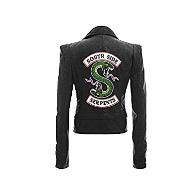 HEHEH Riverdale Southside Serpents Short Jacket Vest with Faux Leather, Casual Printing Coat at Women's Coats Shop