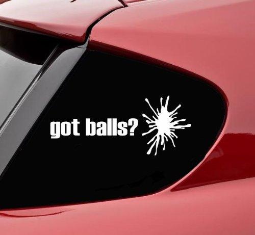 Got Balls? Paintball Paintballing Vinyl Decal Sticker