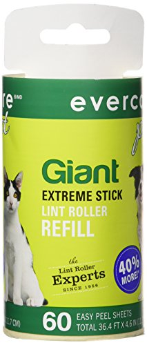 Evercare Giant Lint Roller Refill, 60 Sheets Roll