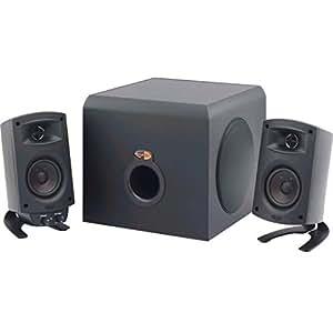Klipsch ProMedia 2.1 THX Certified Computer Speaker System - 3-Piece Set (1011400) With Bluetooth Adapter