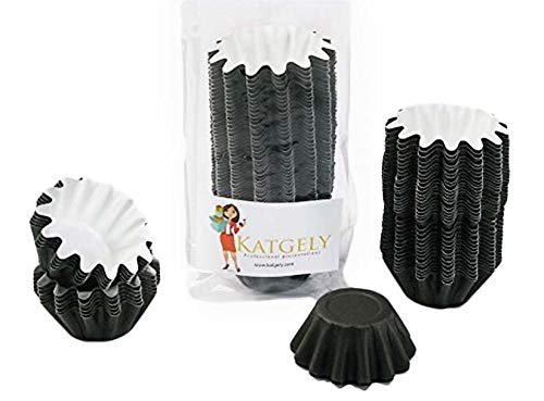 Katgely Floret Brioche Paper Cup - Brioche Pan Paper Baking Mold - Freestanding Construction Bake and Sell Paper Mold - Pack of 100