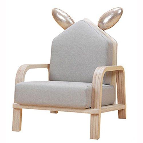 nobrand [Design Yoons] HIZOO Sofa Rabbit Birch Kids Room Animal Children Chair Seat