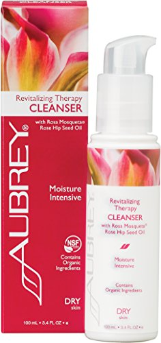 Aubrey Organics Revitalizing Therapy Cleanser * FOR DRY SKIN * WITH THE BEST ROSE HIP SEED OIL - Rosa Mosqueta? TO CLEAN & MOISTURIZE - 3.4oz