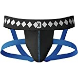 Diamond MMA Four-Strap Jock Strap Supporter with Built-in Athletic Cup Pocket for Sports, Small