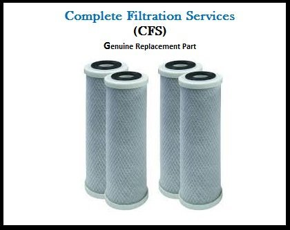 - 4 Pack of Compatible Filters for Watts (WCBCS975RV) Carbon Block Water Filter Cartridge by CFS