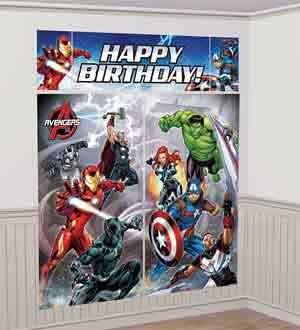 Avengers Decorations (5 Piece Avengers Epic Superhero Birthday Party Scene Setter Decoration Kit)