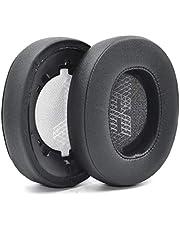 Defean Vervangende Potein Leer en Memory Foam Oorkussens voor JBL Live 500BT Draadloze Over-Ear Hoofdtelefoon (Zwart)