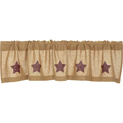 Valance in Tan and Red