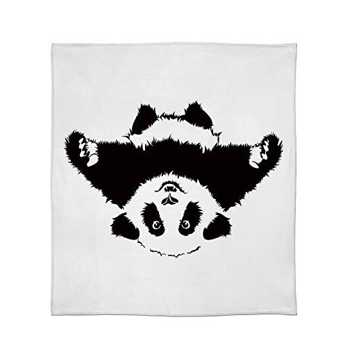 (C COABALLA Super Soft Blanket,Panda,for Camping Bed Couch,Size Throw/Twin/Queen/King,Funny Panda Wants to Hug and Cuddle)