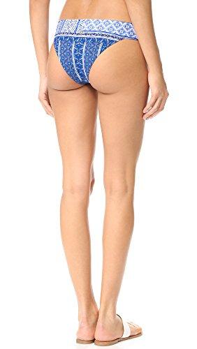 OndadeMar Women's Turquish Banded Bikini Bottoms, Turquish, Medium