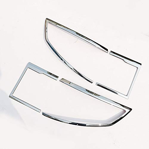 4pcs/set For Land Rover Discovery Sport ABS Chrome Rear Tail Light Lamp Cover Trim 2015 2016 2017 (bright) by silutong