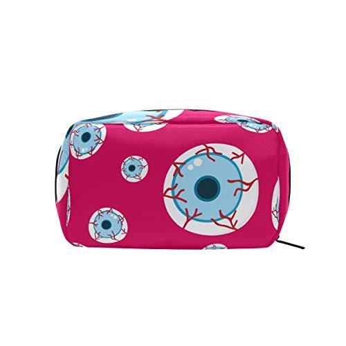 Halloween Eyeball Red Cosmetic Bag Makeup Case Toiletry -