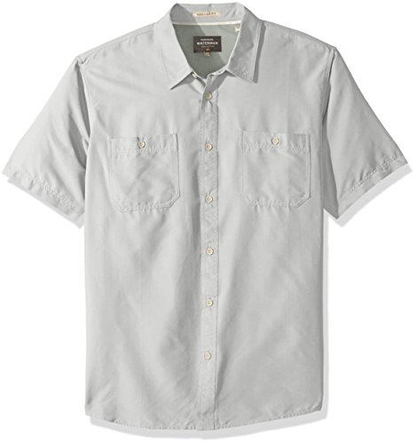 Quiksilver Waterman Men's Wake Solid UPF 50+ Sun Protection Shirt, Steel XXL