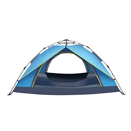農業の承認する浸漬DALL テント テント アウトドア 自動 キャンプテント 二人 ポータブル 耐久性のある 通気性のある (色 : 青)