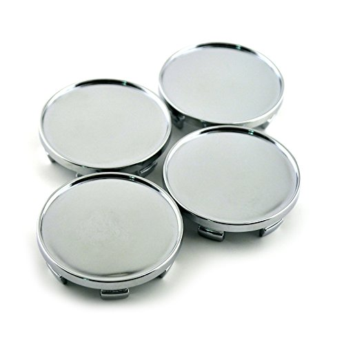 54mm Silver ABS Car Wheel Center Hub Caps Set of 4