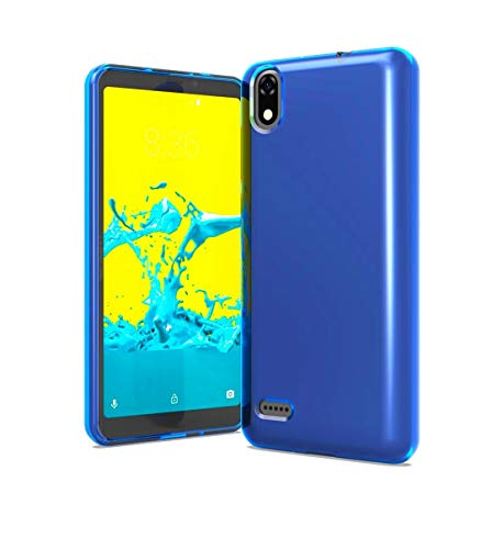 Tempered Glass + TPU Flexible Skin Protective Case Phone Cover for ZTE Blade T2 Lite Z559DL + Gift Stand (Blue) (Skin Phone Protector Cover)