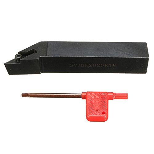 AccOED 20mmx125mm SVJBR2020K16 Metal Lathe Cutting Turning Tool Holder For VBMT1604//02//04//08//12//VCGT1604 For Semi-Finishing//Finishing