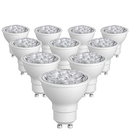 SUNTHIN 10 Pack Dimmable GU10 LED Bulbs 60W Halogen Bulbs Equivalent 6.5W 500lm GU10 Light Bulbs Daylight 5500K 38 Degrees Beam