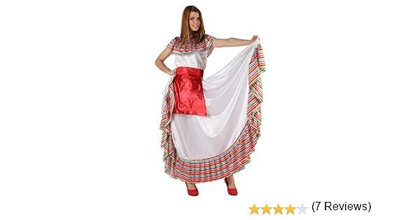 Atosa-19540 Disfraz Mejicana, multicolor, M-L (19540): Amazon.es ...