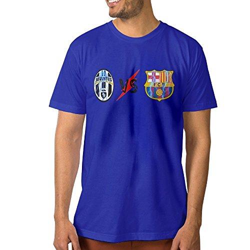 Customize Men's T Shirt J Vs B Football Combat M RoyalBlue