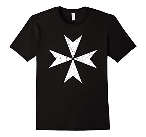 Make Knights Templar Costume (Mens Knights Templar Cross | Renaissance Festival T-Shirt Medium Black)