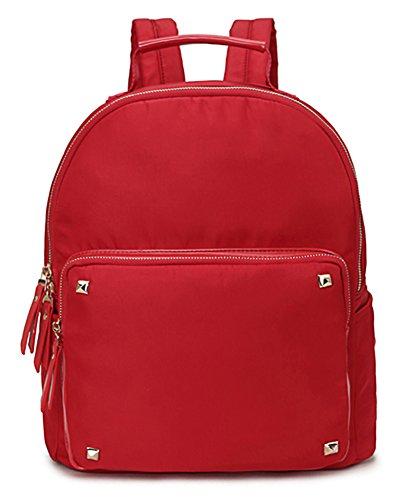 Big Handbag Shop - Bolso mochila de tela para mujer Design 2 - Red