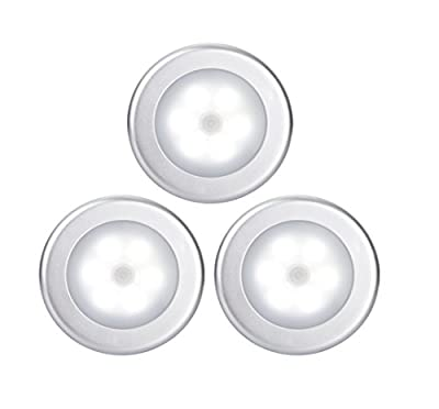 Motion Sensor Light,Goldmore Wireless LED Night Light Battery Powered ,Wall Light for Hallway, Closet, Stairs, Bathroom, Bedroom,Kitchen,with FREE 3M Adhesive Pads by Goldmore