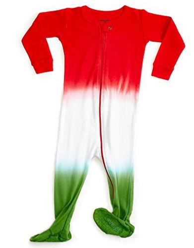 Leveret Kids Organic Cotton Tie-Dye R/W/G Baby Boys