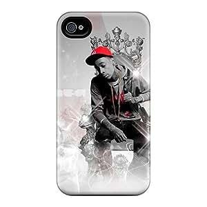 Excellent Hard Phone Case For Iphone 4s With Provide Private Custom HD Wiz Khalifa Pattern JamieBratt