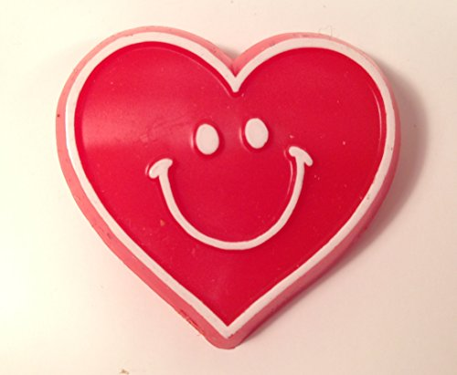 Hallmark Red HEART SMILEY Happy FACE Vintage Lapel PIN Valentine Love Brooch - Lapel Pin Signed